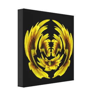 "Sunflower ""Polar Coordinates"" Wrapped Canvas Print"