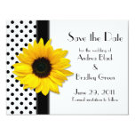 Sunflower Polka Dots Save the Date Card