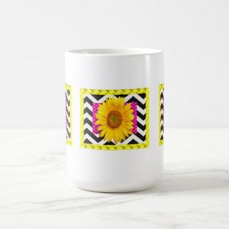 Sunflower Pop Art Classic White Coffee Mug