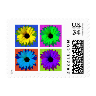 Sunflower Pop Art - Postage