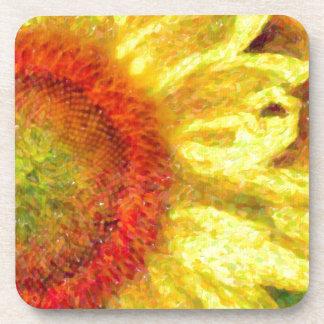 Sunflower Pop Drink Coaster