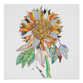 Sunflower Poster (You can Customize)