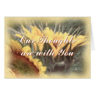 Sunflower Prayer card-customize Greeting Card