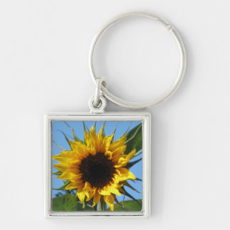 Sunflower - Premium Small Square Keychain 3.5cm