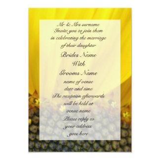 Sunflower Print 5x7 Paper Invitation Card