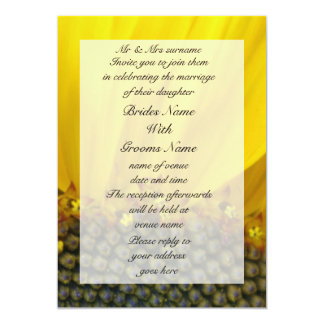 Sunflower Print Custom Announcements