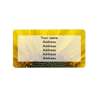 Sunflower Print Wedding Address Labels