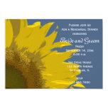 "Sunflower Print Wedding Rehearsal Dinner Invite 5"" X 7"" Invitation Card"