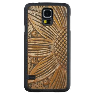 Sunflower Print Wooden Samsung Galaxy S5 Case