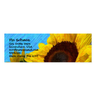 Sunflower Profile Card Double-Sided Mini Business Cards (Pack Of 20)