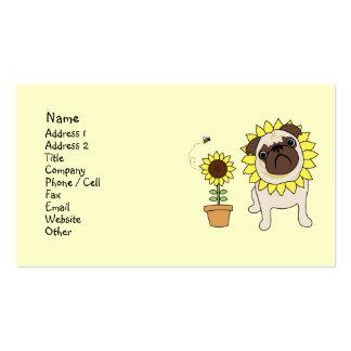 Sunflower Pug Business Cards