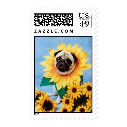 Sunflower Pug Stamps