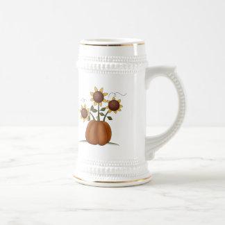 Sunflower Pumpkin Coffee Mugs