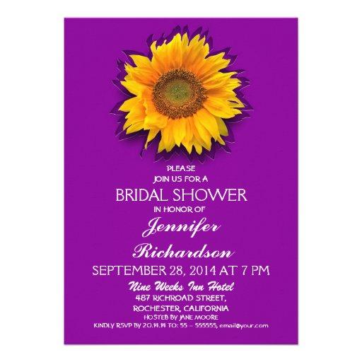 Bridal Shower Invitations Zazzle Sunflower Bridal Shower Invitations