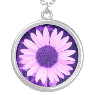 Sunflower Purple Necklace