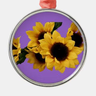 Sunflower Purple Ornament