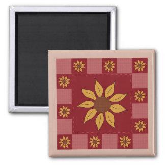 Sunflower Quilt Magnet
