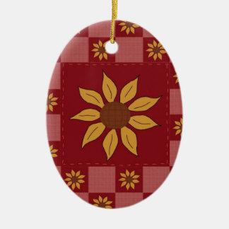 Sunflower Quilt Ornament