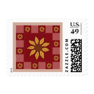 Sunflower Quilt Postage Stamp