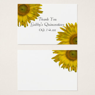 Sunflower Quinceanera Thank You Favor Tags