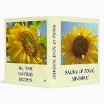 SUNFLOWER Recipe Book Baking Up Some Sunshine! Binder