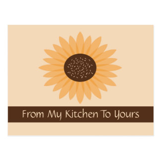 Sunflower Recipe Card