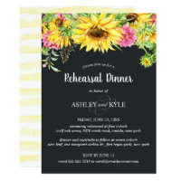 Sunflower Rehearsal Dinner Invitation