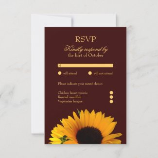 Sunflower Response Card