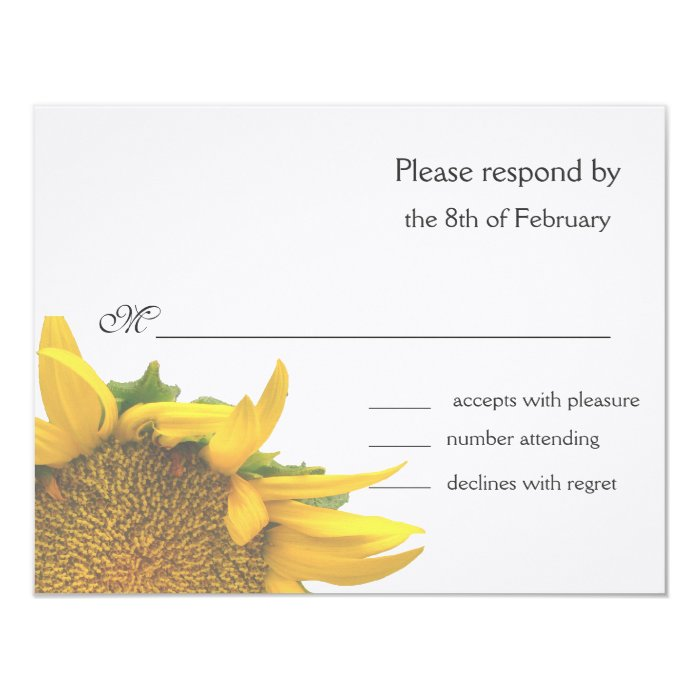 Sunflower response card 2