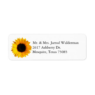 Sunflower Return Address Label