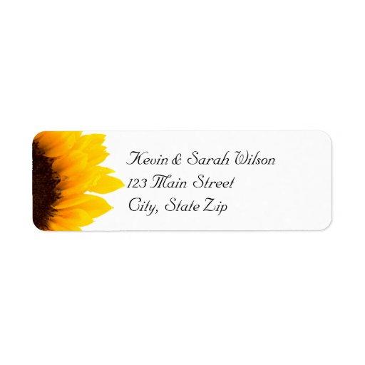 Sunflower Return Address Labels