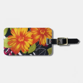 sunflower riot bag tag