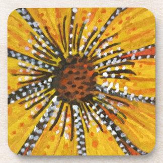 sunflower riot beverage coaster