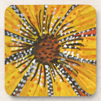 sunflower riot drink coaster