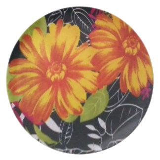 sunflower riot dinner plate
