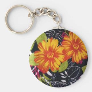 sunflower riot basic round button keychain