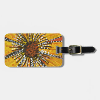 sunflower riot luggage tags