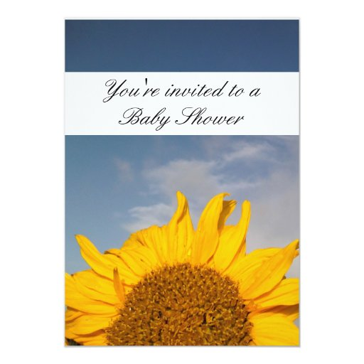 sunflower rising baby shower card zazzle