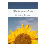 "Sunflower Rising Baby Shower card 5"" X 7"" Invitation Card"