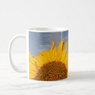 Sunflower rising like the sun coffee mug