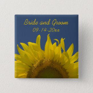 Sunflower Rising Wedding Button