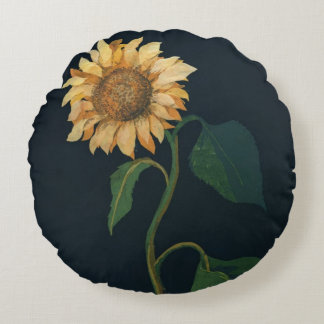 Sunflower Round Pillow