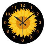 Sunflower. Round Wallclocks