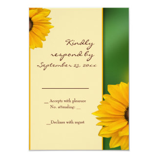 Sunflower RSVP Card template Personalized Invites