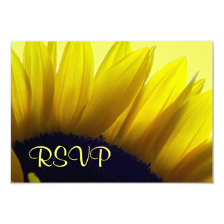 Sunflower RSVP Cards