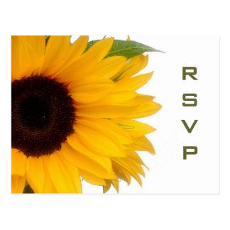 Sunflower RSVP Postcard