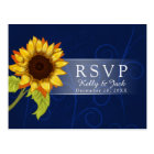 Sunflower/RSVP wedding Postcard