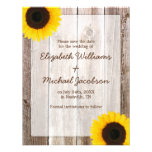 Sunflower Rustic Barn Save the Date Announcement