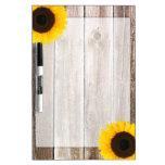 Sunflower Rustic Barn Wood Dry-Erase Boards