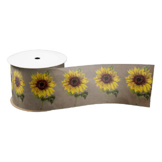 Sunflower Rustic Country Wedding Gift Ribbon